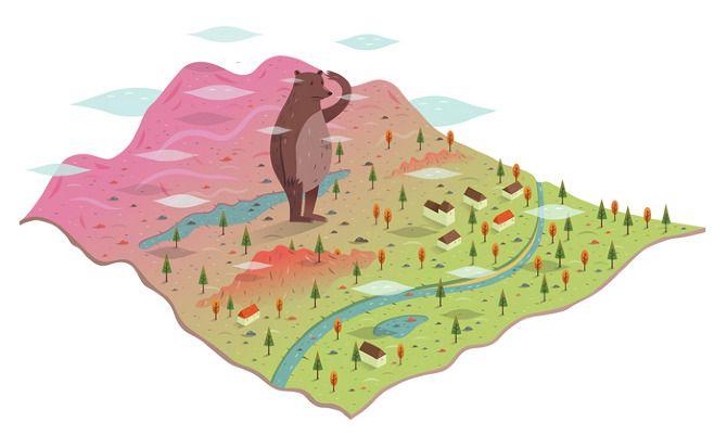 Lost Bears - Alex Mathers Illustration