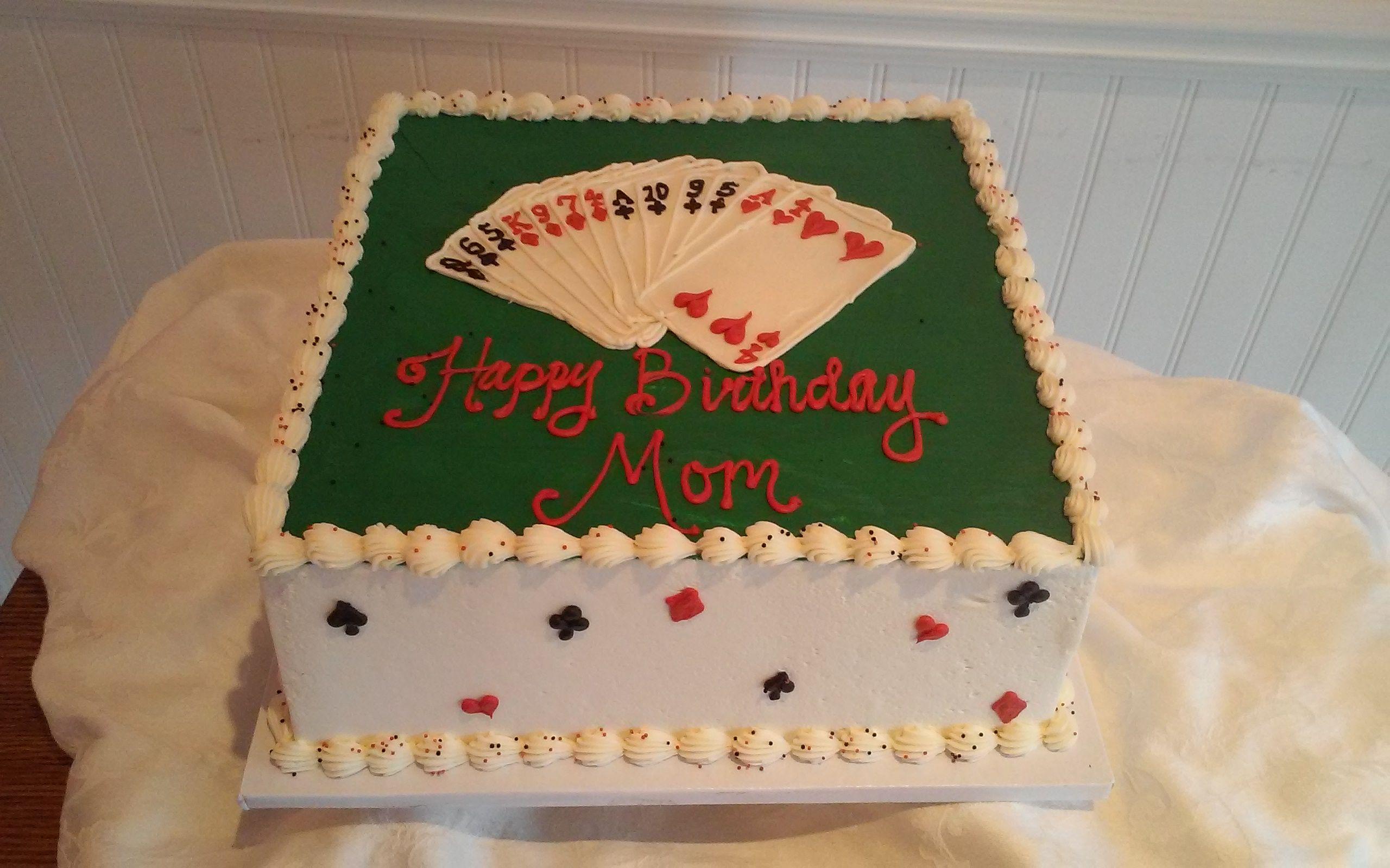 Bridge Card Game Birthday Cake Sweetpea Cake Cupcake Boutique