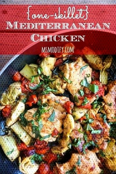{one-skillet} Mediterranean Chicken - MsModify