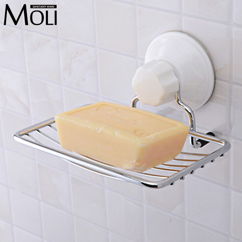 Suction Cup Wall Mounted Soap Dish Stainless Steel Soap Basket Sucker Shower Soap Holder Bathroom Accessories Wooden Soap Dish Dish Soap Soap Holder
