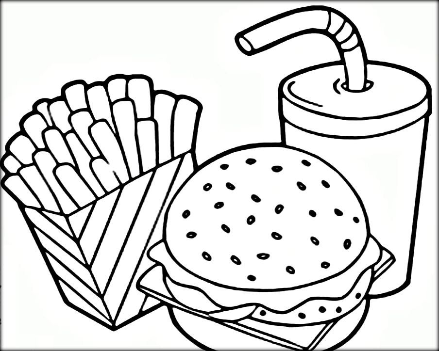 - Free Coloring Pages For Kids And Adults: Printable Fast Food Coloring  Pages, Pizza Coloring Page, Free Coloring Pages