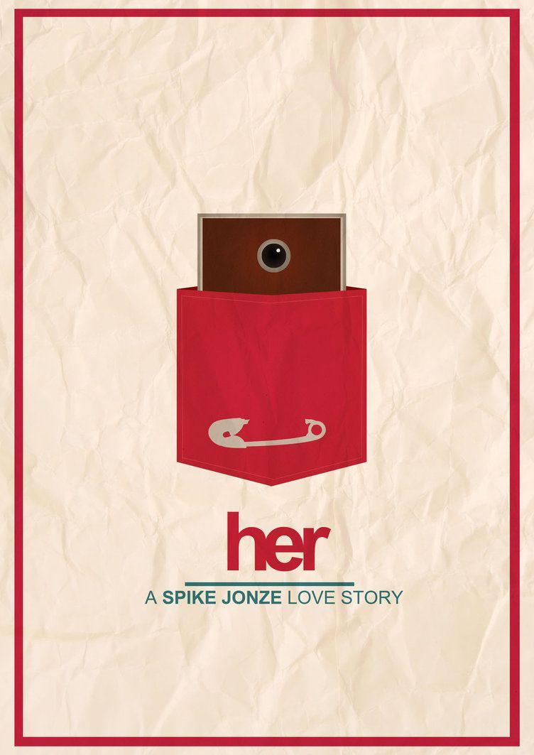 Her The Movie Minimalist Poster By Noneblack On Deviantart Her