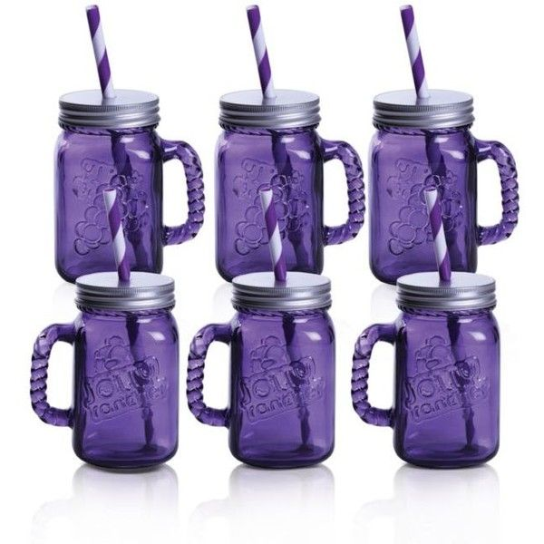 Fitz And Floyd  Jolly Rancher Jolly Jars Grape, 16-Oz, Set Of 6 (€53) ❤ liked on Polyvore featuring home, kitchen & dining, grape, lidded jars and candy jars