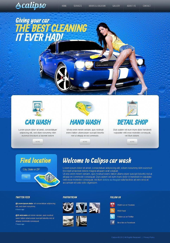Car wash facebook html cms template facebook wash car