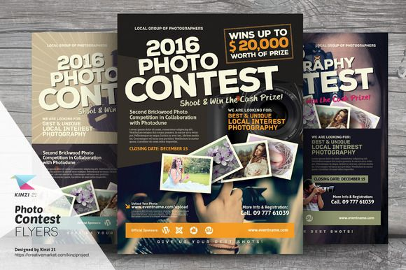 Photo Contest Flyer Templates by kinzi21 on Creative Market - workshop flyer template