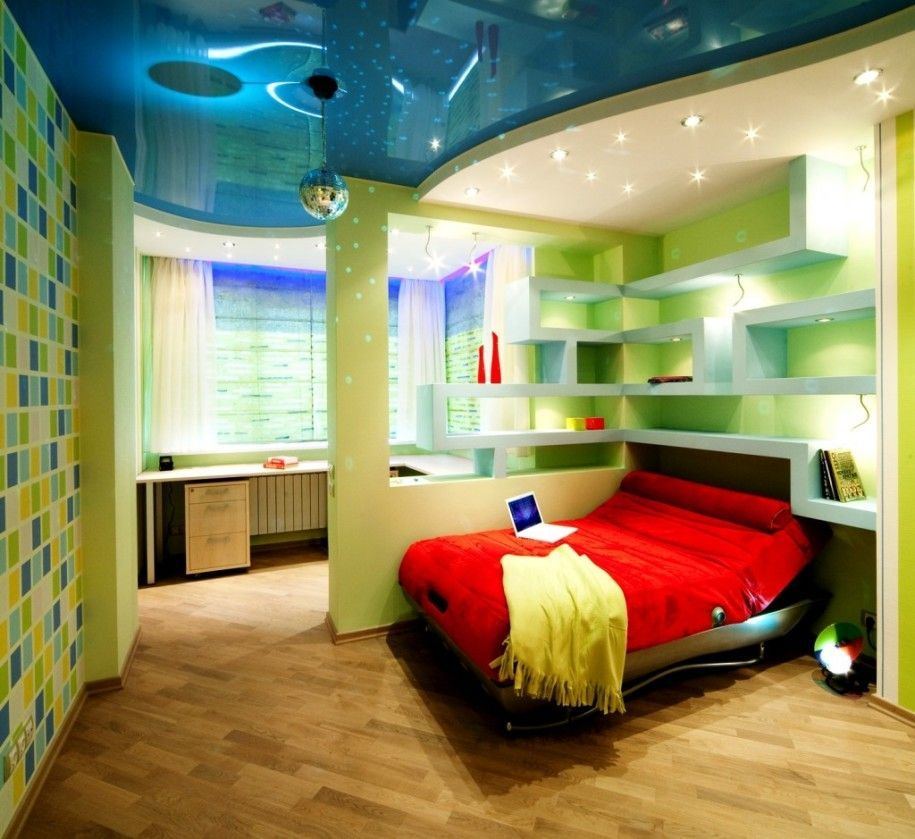 Charming And Cool Room Ideas For Girls Cute White Laptop On Red