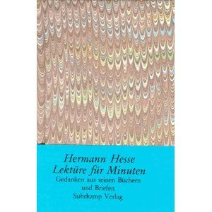 Hermann Hesse`s thoughts in this tiny beautiful book