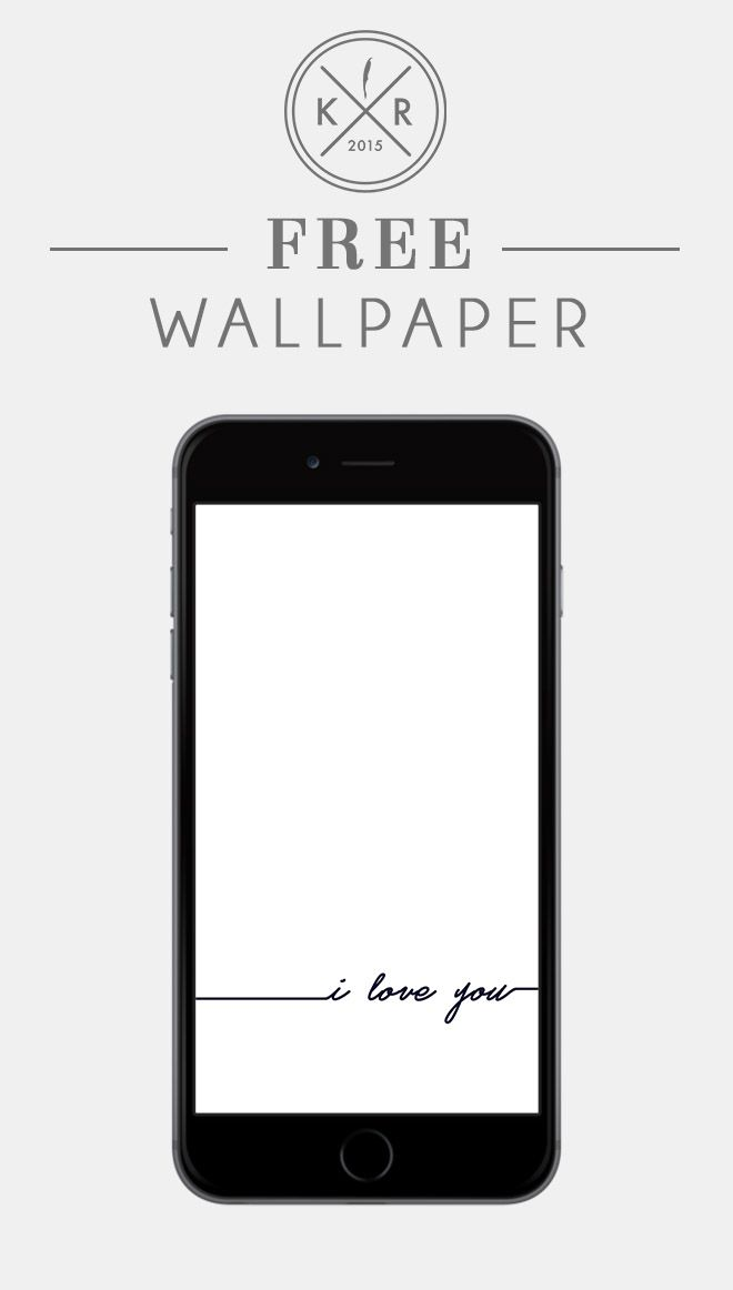 I Love You White And Black Typography Background For Mobile And Desktop Free Download Wallpapers And Free Wallpaper Backgrounds Android Wallpaper Candidly Keri