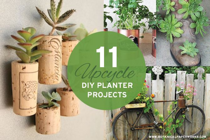 Take a look at this roundup of 11 upcycle DIY planters and get inspired for spring gardening!