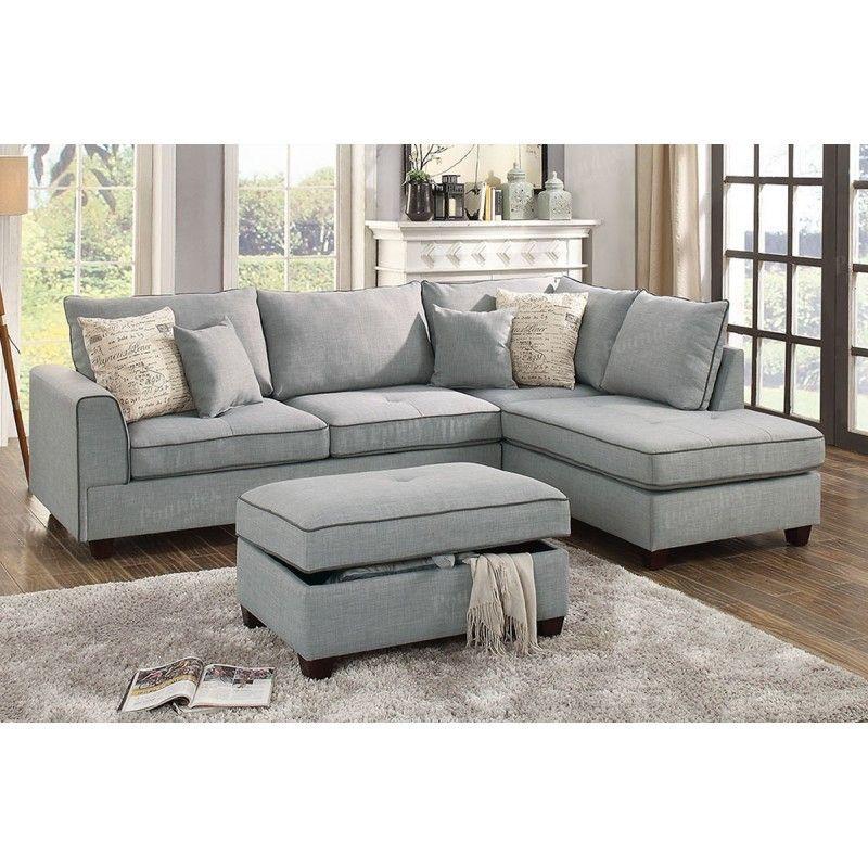 furniture poundex ottoman w sofa yhst polyfiber cupboard cinzia black sectional by