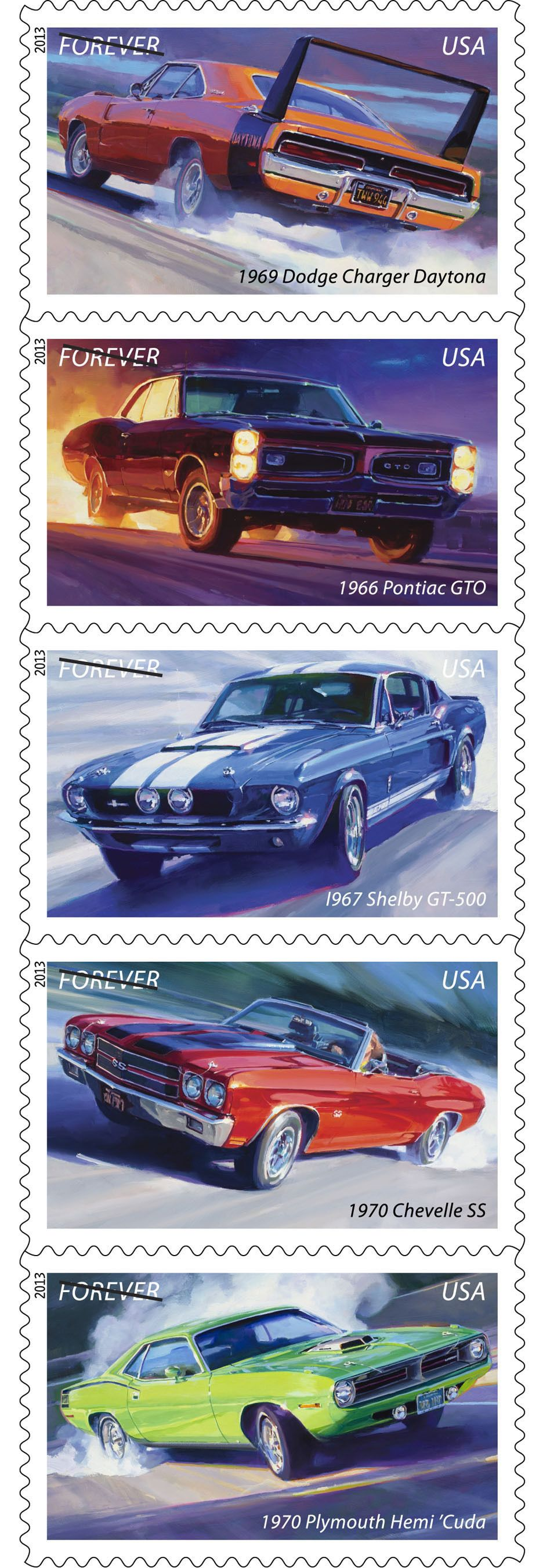 U S Postal Service Muscle Cars