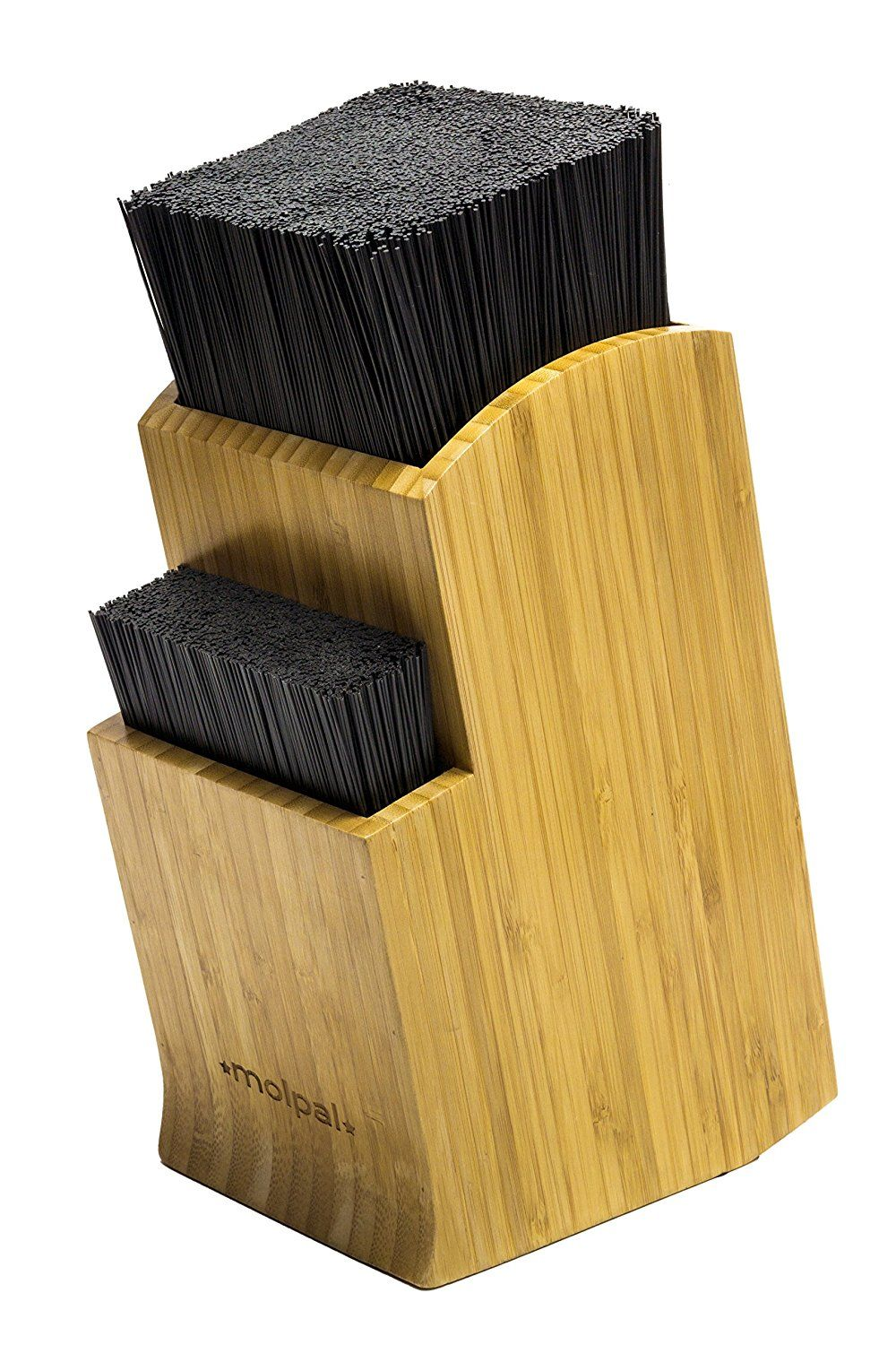 Knife Block Universal Holder Bamboo Kitchen Stand Without Knives By Molpal Check Out This Gr Bamboo Countertop Clean Dishwasher Countertop Organization