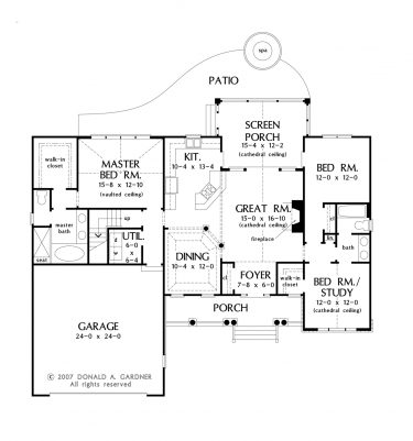 . Floor Plans AFLFPW75782   1 Story Ranch Home with 3 Bedrooms  2