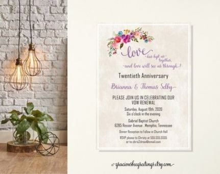 60 Ideas for party invitations anniversary vow renewals #20thanniversarywedding