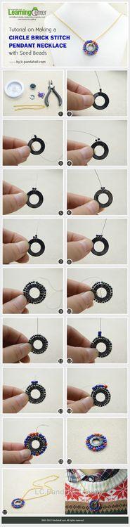 Jewelry Making Tutorial-Make a Circle Brick Stitch Pendant Necklace with Seed Beads | PandaHall Beads Jewelry Blog