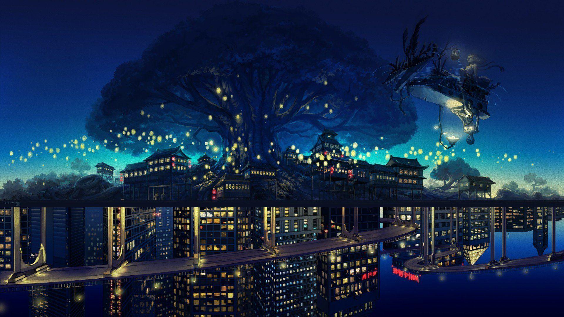 Imgur Anime City Anime Scenery Wallpaper Anime Backgrounds Wallpapers