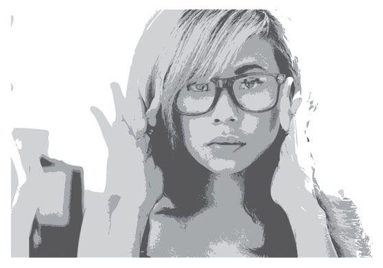 Posterize Live Trace Bristle Brush Illustrator Illustration