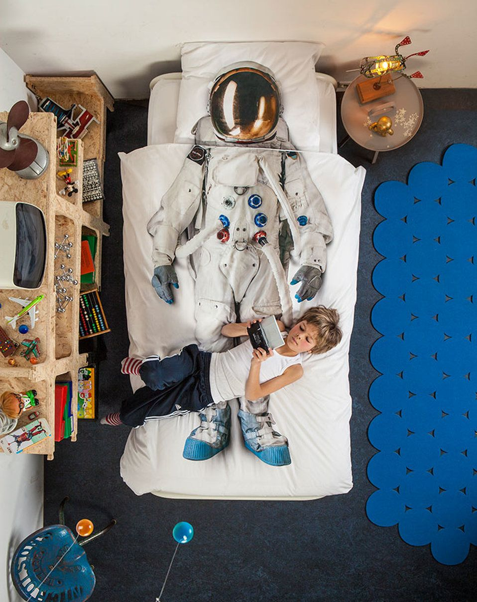 Bettwäsche Astronaut 155x220 80x80 2 Teilig In Bunt