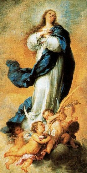 Immaculate Conception Painting By Murillo