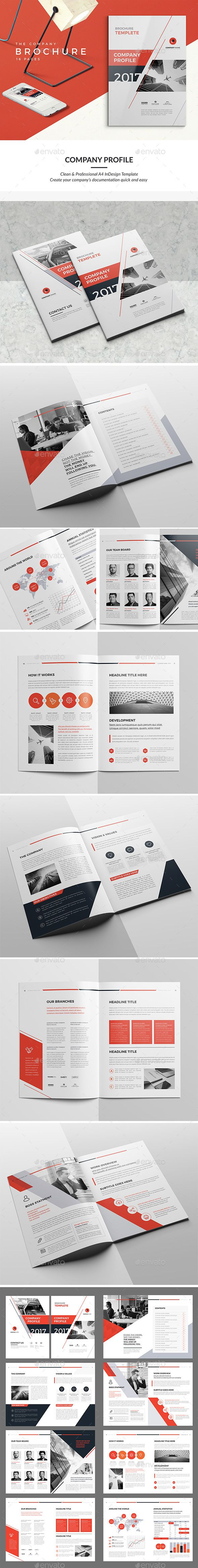 Company Profile Brochure 2017 Template Indesign Indd Company