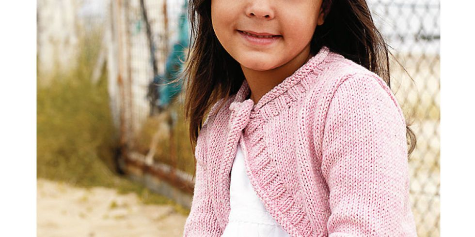 Knit This Cute Cover-Up For A Little Girl | Shrug knitting pattern ...