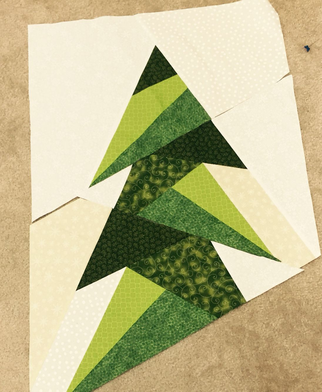 Paper Pieced Christmas Tree Pattern: On This Sunday Afternoon I'm Working On The Tall Trim The