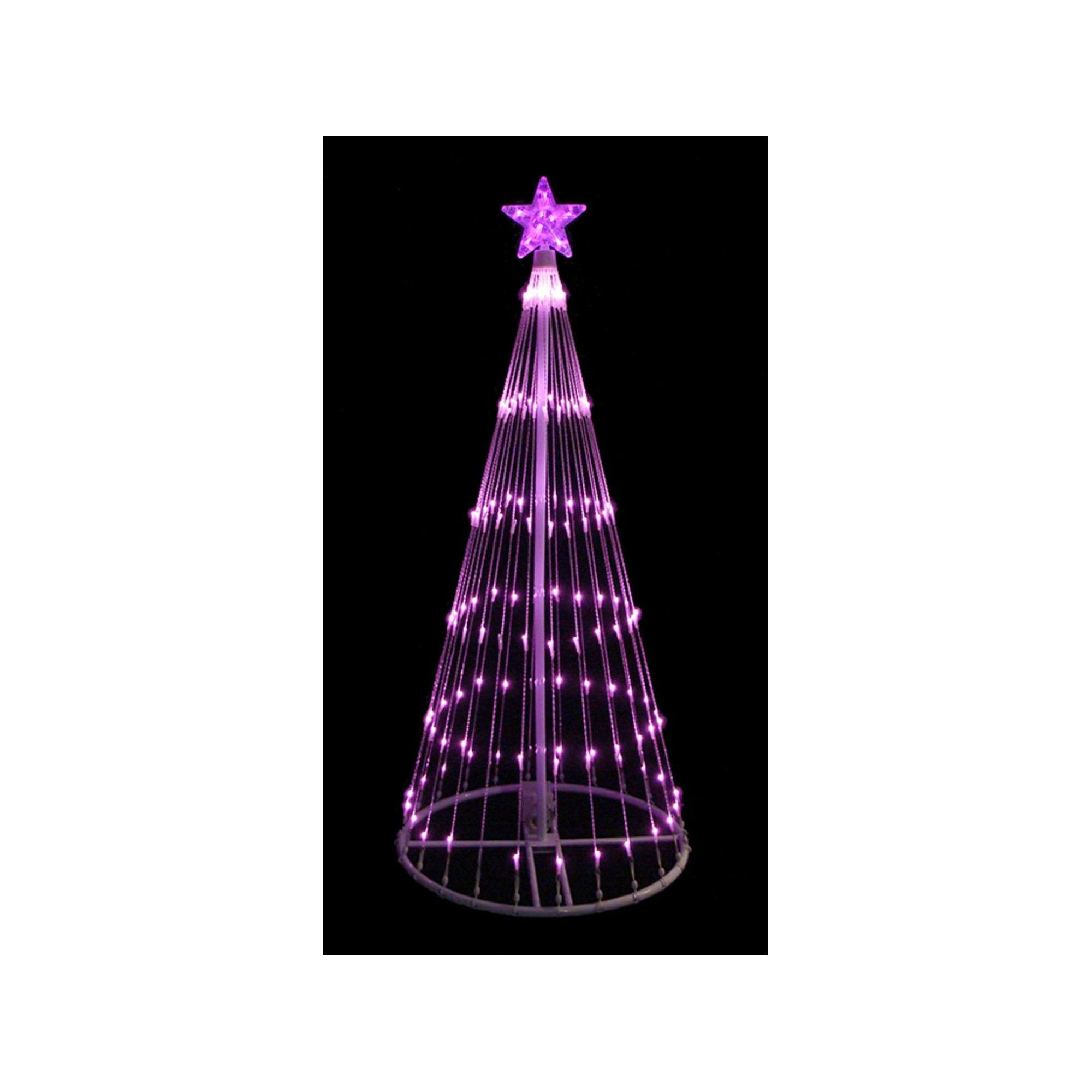 LB International 4' Pink Led Light Show Cone Christmas