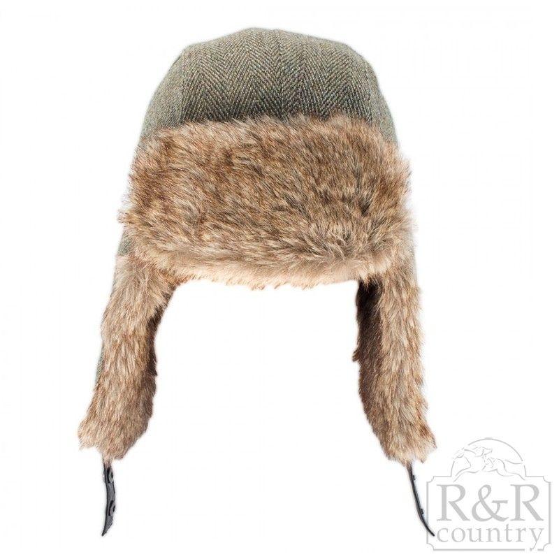 d10fe239f18 Heather Kevern Tweed Trapper Hat- Light Green