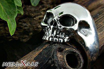 Sterling Silber 925, Totenkopf-Ring, Skull-Ring, Skull, Biker, auch große Größen