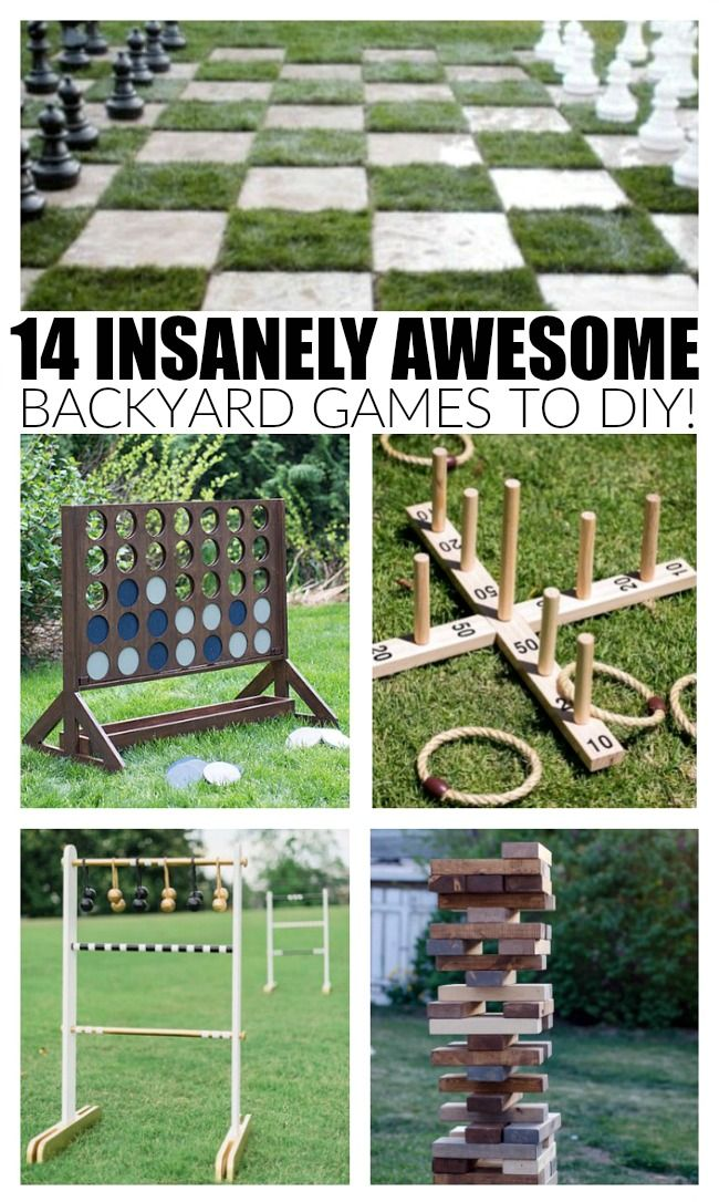 14 Insanely Awesome Backyard Games to DIY Right Now #games
