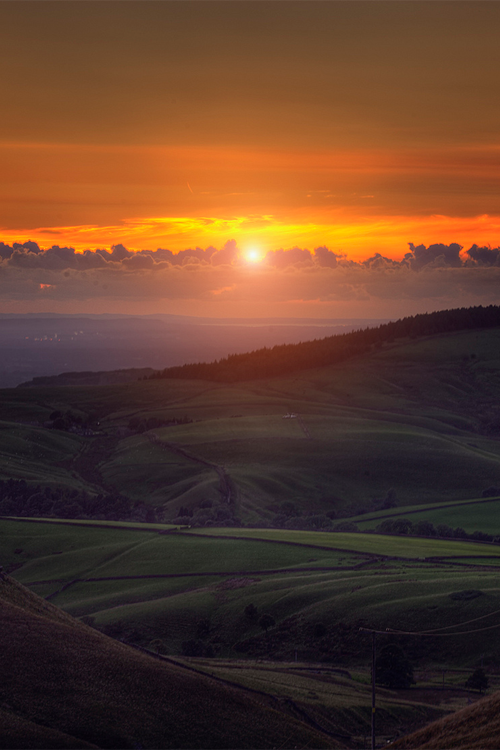 Cat And Fiddle By Andy Bagley Sunrise And Rolling Hills Landscape Sunrise Beautiful Sky
