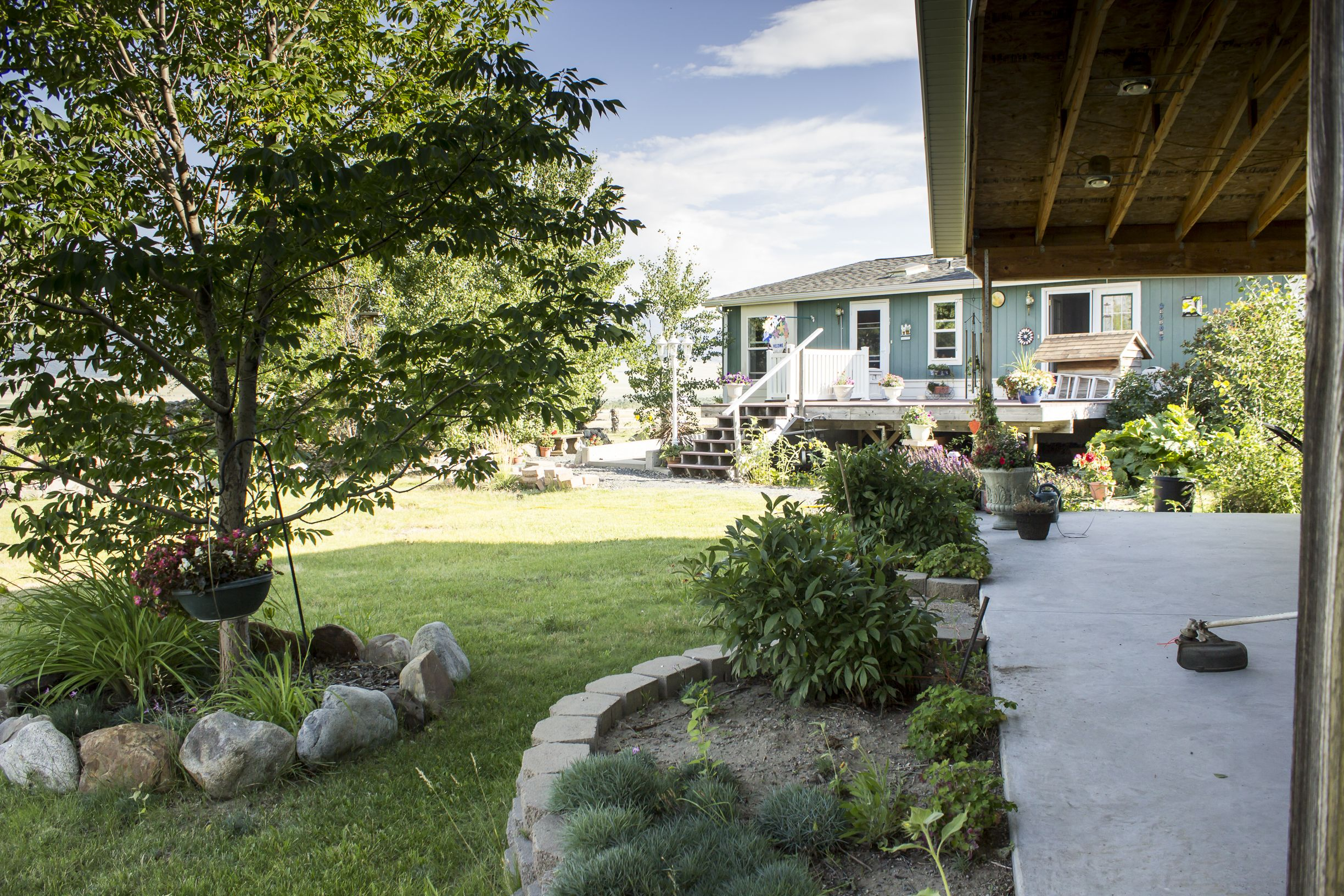 Beautifully landscaped 1 acre yard | Outdoor decor, Patio