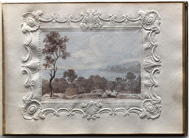 album de dessinsd de charlotte napoléon : vue d'une lac -Réunion des Musées Nationaux-Grand Palais -