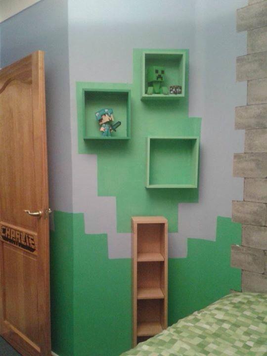 Minecraft tree shelves christian bed room pinterest - Minecraft kinderzimmer ...