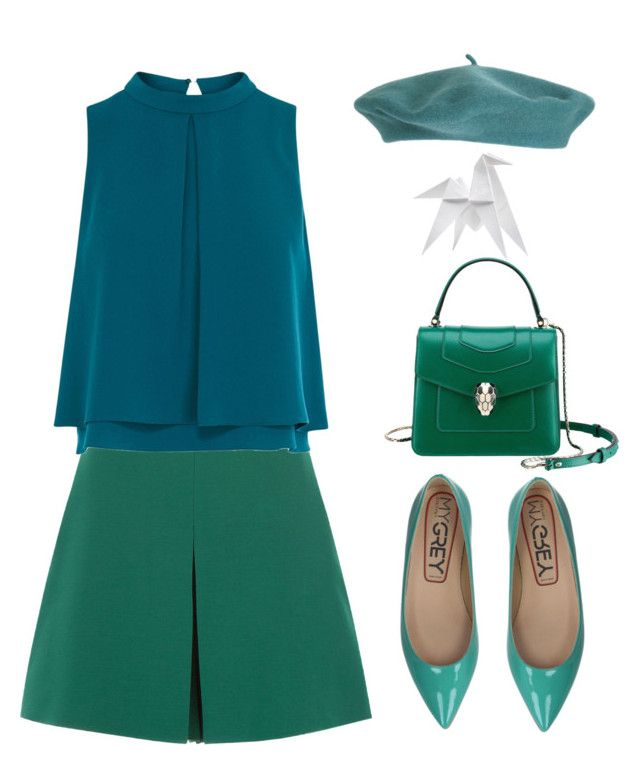 """Untitled #2015"" by lbenigni ❤ liked on Polyvore featuring Valentino, Coast, Hermès, My Grey and Bulgari"