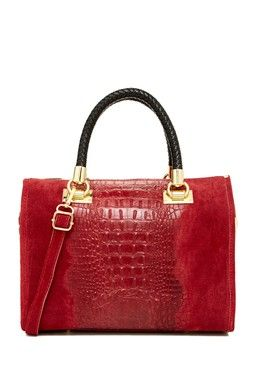 Croc Embossed Satchel