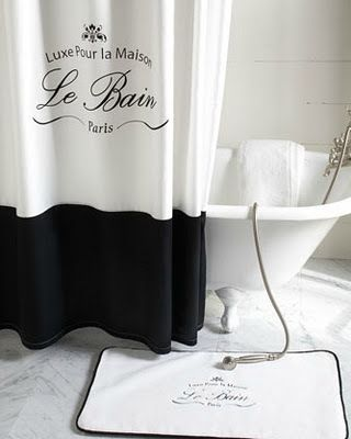 Paris Shower Curtain Trump Collection Curtains Black And White