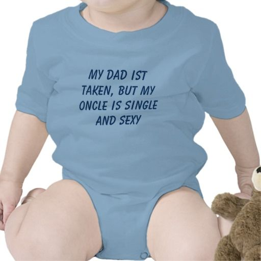 My #Oncle is #single Baby #Bodysuit from @zazzle