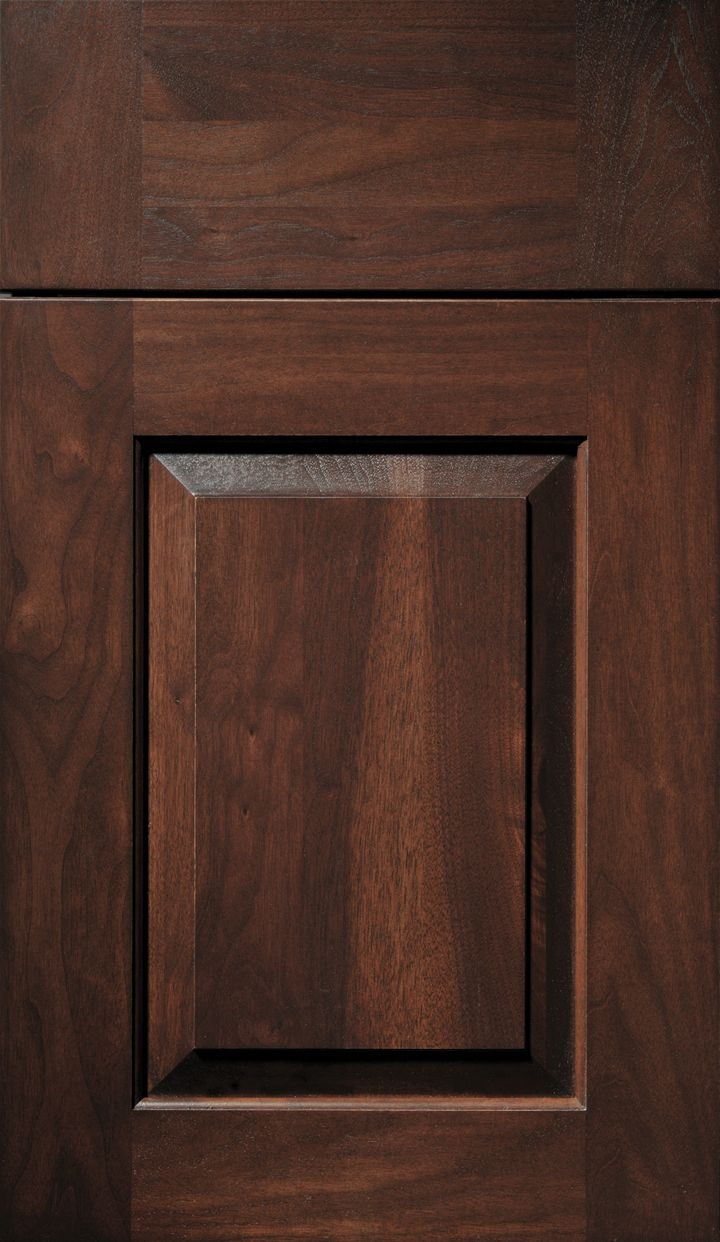 A Walnut door done in a Vintage 3 Door Style with a Cocoa finish