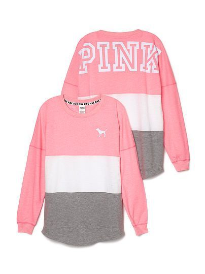 Varsity Crew - PINK - Victoria's Secret - shirts, boyfriend, party ...