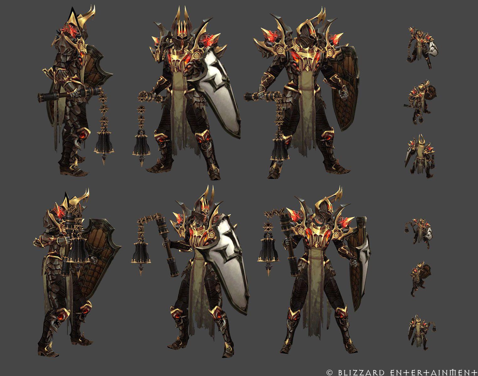 Character Design Set : Artstation diablo reaper of souls akkhan set