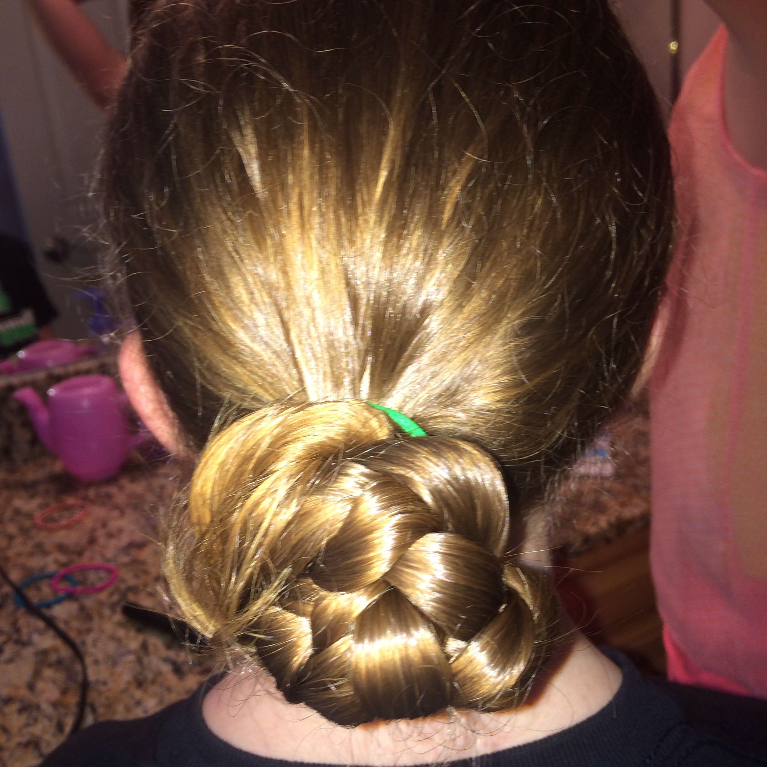 Pretty braid bun in 5 minutes quick and easy