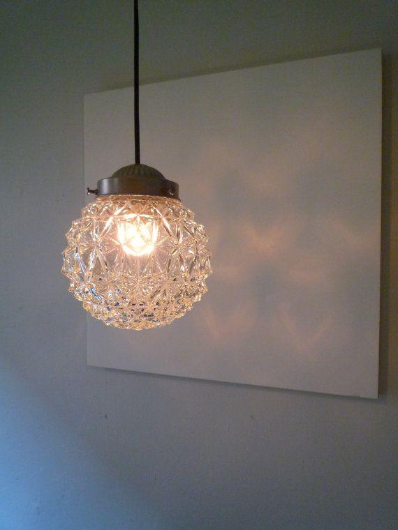 Globe pendant lamp octavius hanging diamond cut by thelightstore etsy
