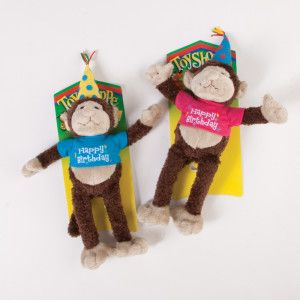 Toyshoppe Happy Birthday Squeaker Monkey Doy Toy Toys