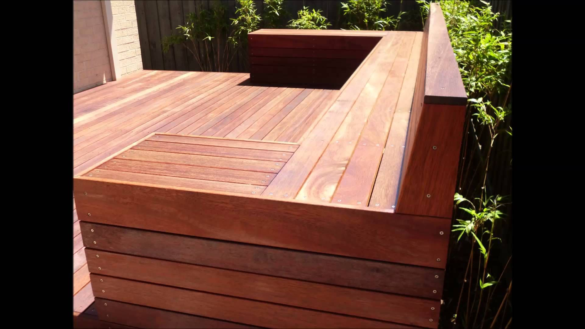 How To Build A Timber Deck With A Bench Seat Ddc Timber Deck Deck Bench Wooden Bench Outdoor