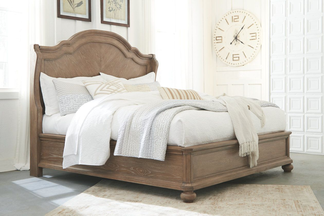 Ollesburg Queen Panel Bed Ashley Furniture Homestore Ashley
