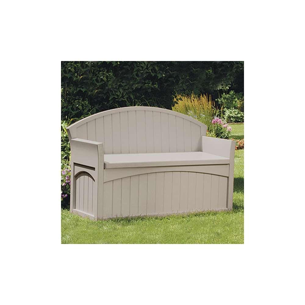Suncast 50 Gallon Patio Bench Large