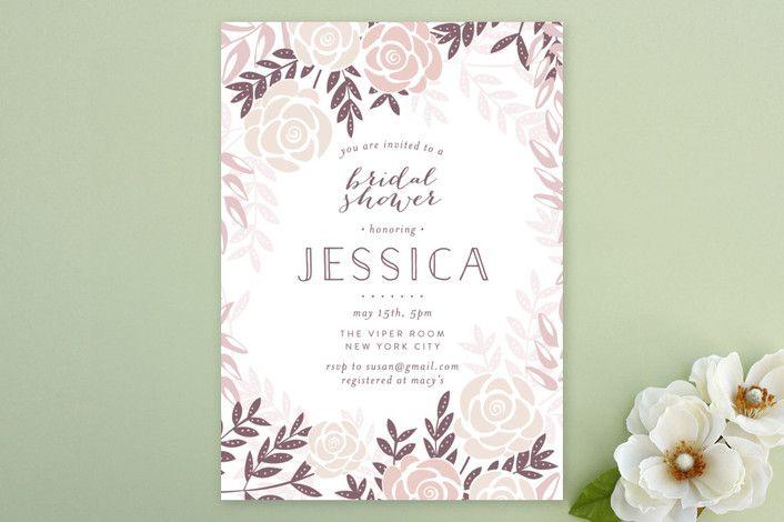 Fantasy Floral Floral Botanical Bridal Shower Invitations in