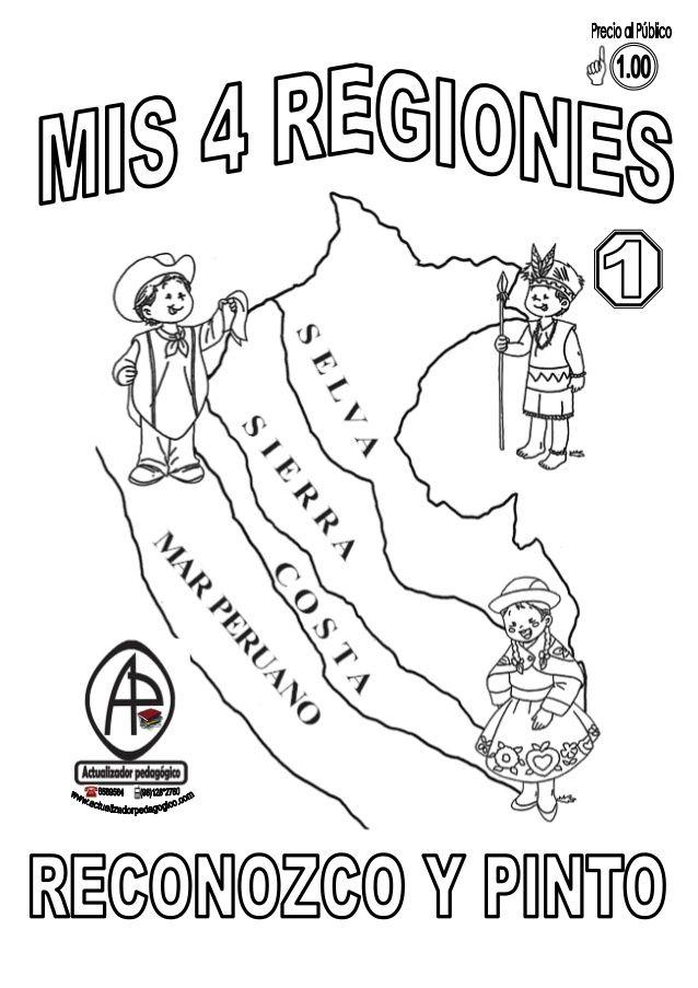 REGIONES DEL PERÚ | Eso | Pinterest | Perú, Preescolar y Colorear