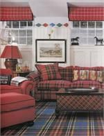 Fabric by the yard in various plaid patterns for custom window treatments, draperies, roman shades, top treatment